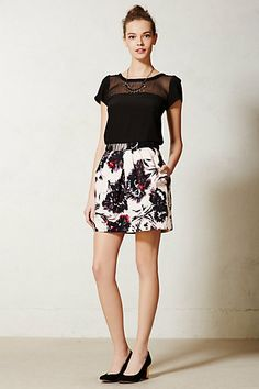 Peter Som Blossomed Brushstrokes Skirt #anthropologie