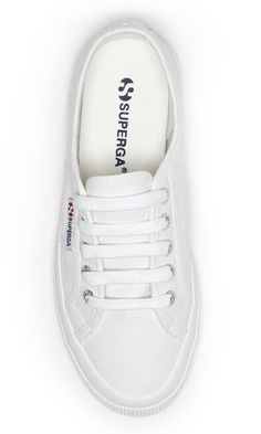 Classic white canvas sneakers by Superga