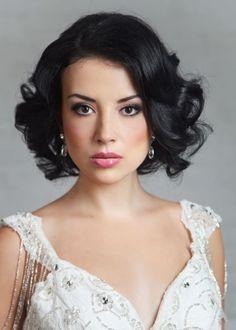 Свадебная прическа на короткие волосы - традиционная классика ::: onelady.ru ::: #hair #hairs #hairstyle #hairstyles