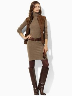 Turtleneck dress that Kate Middleton wore to a youth center in December, 2011. $199.00