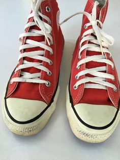 Converse All Star Chuck Taylor USA Red hi-tops by mightyMODERN
