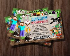 http://thepodomoro.com/collections/birthday-invitation/products/minecraft-card-birthday-invitation