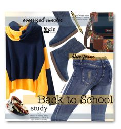 """""""Back to School"""" by beebeely-look ❤ liked on Polyvore featuring Sakroots, UGG Australia and Parafernalia"""