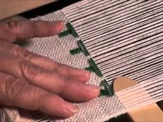 ▶ Weave Overshot Christmas Trees on a Rigid Heddle Loom - Part 3 - YouTube