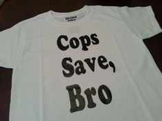 Cops Save Bro - Kids T Shirt - Police Support - Law Enforcement - Police Family - Boy's Shirt - Girl's Shirt by GeoDreams on Etsy Support Law Enforcement, Police Family, Thin Line, Cops, Shirts For Girls, Bro, My Etsy Shop, Trending Outfits