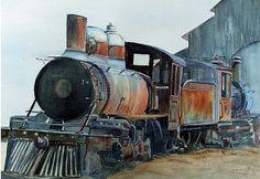 Abandoned Train II by Katherine Berlin