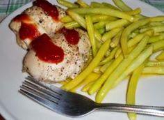 Mini roladki z kurczaka Green Beans, Food And Drink, Vegetables, Tableware, Dinnerware, Tablewares, Vegetable Recipes, Dishes, Place Settings