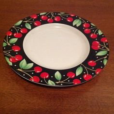 Mary Englebreit cherry edged plate.
