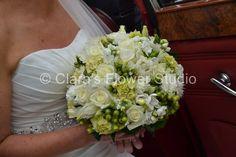 Lush White Pallet Brides Bouquet