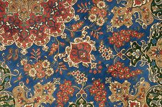 Particolare di un Qum persiano interamente in seta.
