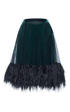 Pleated Jersey Lurex Skirt by MARCO DE VINCENZO for Preorder on Moda Operandi