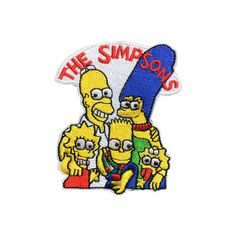 The Simpsons Patch Embroidered Cartoon Iron On Sew On Patches #Fleckenworld