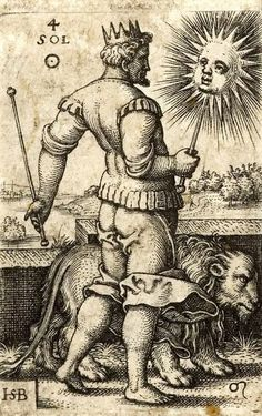 Hans Sebald Beham. Sol, the Sun. The Seven Planets with the Signs of the Zodiac. 1539.
