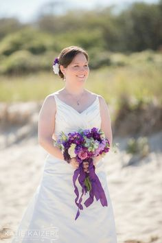 Purple bridal bouquet by Betsey Brooks, photo by Katie Kaizer