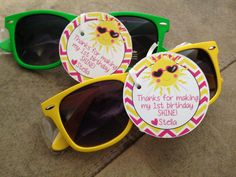 You Are My Sunshine Party Favors