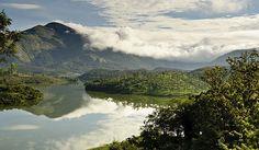 Mountain reflection - Magical Munnar, Kerala, India.