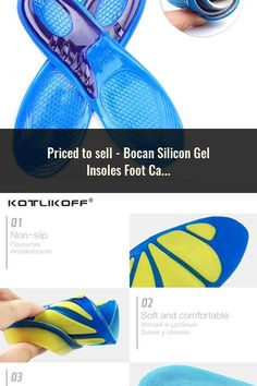 f4efa3c93c Bocan Silicon Gel Insoles Foot Care for Plantar Fasciitis Heel Spur Shoe  Insoles Shock Absorption Pads arch orthopedic insoles
