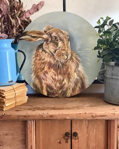 Another little hare to go with the trio I'm creating for @fourandtwentycafe. Always one of my favourites subject matters to paint 🐰 #harepainting #hares #farmhousedecorating #southafricanfarmhouse