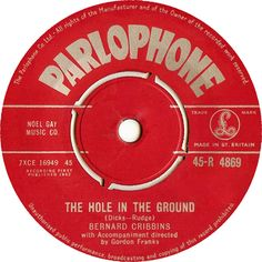 Bernard Cribbins - The Hole In The Ground (Parlophone) No.9 (Feb '62) > https://www.youtube.com/watch?v=P-JVnlB7Onk