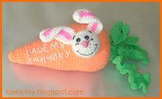 Zanahoria para Bunny - una descripción de los juguetes de tejer crochet