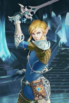 Link (The Legend of Zelda: Breath of the Wild) by AdamaSto