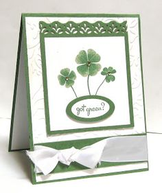 Happy Kitchen Sink Monday!!! Well, for today's card I may be a day late and a dollar short since St. Patrick's day was yesterday, but ...