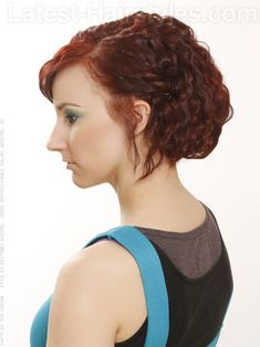 Crimped Red Bob Side View
