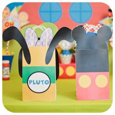 Mickey Mouse; Mickey Mouse Party; Mickey Mouse Birthday Gift Bags! You got ears, say cheers! These are the perfect gift bags for your Mickey Mouse Clubhouse party! So fun, and they come in either PDF format or premade :)