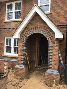 Beautiful brickwork porch
