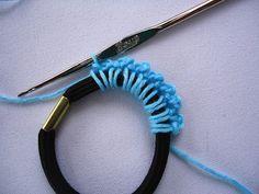 Il blog di Vera Maglia&Uncinetto: un elastico per capelli uncinetto tutorial passo passo