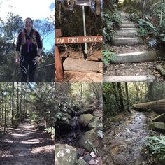 Today on very tired legs I managed to do out on the 6 foot track and back didn't think I… – stonkered-jail Blue Mountains Australia, Very Tired, Legs Day, I Am Happy, Railroad Tracks, Training, Winter, Nature, Stairs