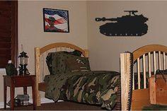 Grand réservoir de garçons l'armée. militaire. chambre. autocollant décoration murale