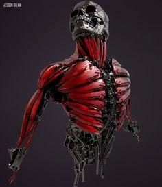 Skull Muscles., jeison silva on ArtStation at https://www.artstation.com/artwork/nqvgr