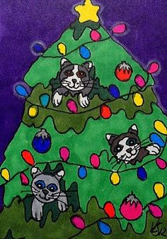 KITTY ORNAMENTS  ACEO ON EBAY