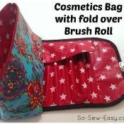 Cosmetics bag and brush roll - via @Craftsy