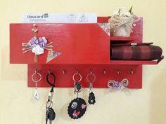 Porta Chaves Celular Cartas Retrato De Madeira Incolor - R$ 24,90 em Mercado Livre