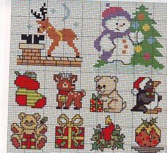 more Christmas cross stitch charts Cross Stitch Needles, Cross Stitch Baby, Simple Cross Stitch, Cross Stitch Charts, Cross Stitch Patterns, Cross Stitching, Cross Stitch Embroidery, Embroidery Patterns, Everything Cross Stitch