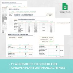Easy Budget Spreadsheet Template, Expense Tracker, Family Budget ...