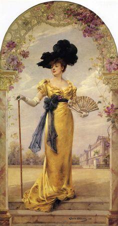 Louise Abbema 1858-1927 'Portrait of Madam Duvelleroy'. Pintora, escritora…