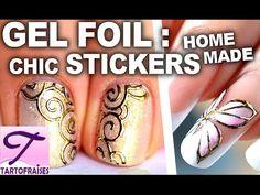 Le Gel Foil : dorures exceptionnelles pour des ongles très chic ♥ - YouTube