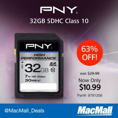 Save 63% on a #PNY 2GB SDHC memory card. #DailyDeal