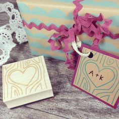 Customizable Heart Carved Tree Stamp #stampcrafts #stamps #stamping #stamp #heartstamp #diy #crafts #crafting #valentinesday