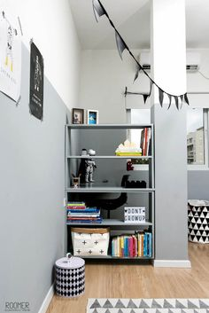 The Half Gray Room - An Inspirational Monochrome Kid's Room- Petit & Small