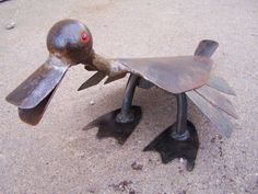Quite the artist! Love it, Quacker Jack- Salvaged Iron Garden Ornament- Metal Art Sculpture- Duck, Bird, - One of a Kind Metal Yard Art, Metal Tree Wall Art, Metal Artwork, Tree Artwork, Recycled Metal Art, Scrap Metal Art, Welding Crafts, Welding Art, Welding Projects