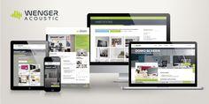 Charte graphique, site internet responsive pour wenger-acoustic.ch / acousteo.fr @washaweb Smart Art, Site Internet, Acoustic, Acoustic Panels