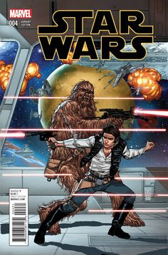 Star Wars #4 variant cover - Han Solo and Chewbecca by Giuseppe Camuncoli *