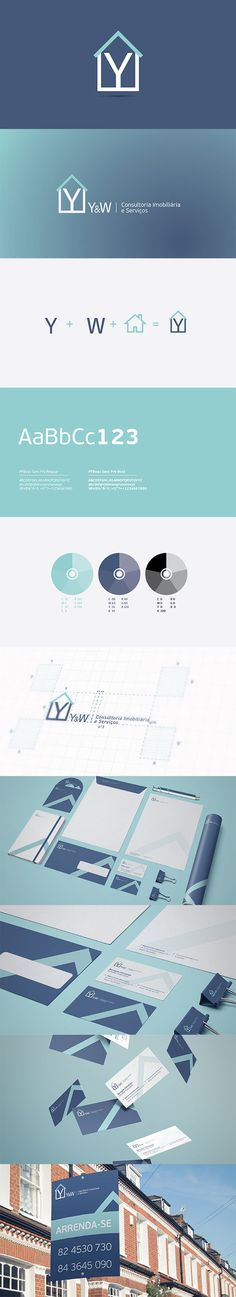 Y&W is a small real estate firm based in Maputo - Mozambique. This project started back in 2010 when the final logo proposal was approved. Since the company wasn't in time very active they didn't feel the nor had the budget to develop the rest of the elements. Now, four years later they have started growing their business and decided to develop the full corporate identity. This is the final outcome of the branding exercise. Envoy! Corporate Design, Corporate Identity, Visual Identity, Brand Identity, Branding, Maputo, Real Estate Logo, Brand Book, Logo Inspiration