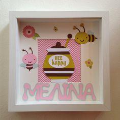 Διακοσμητικό κάδρο - Μελισσούλες Bee, Frame, Home Decor, Picture Frame, Decoration Home, Room Decor, Frames, Interior Design, Home Interiors