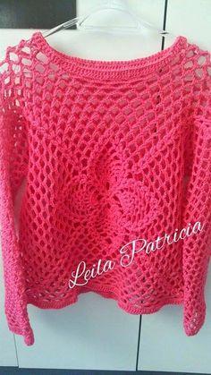 * Pérolas do Crochet: Blusa Barroco MaxColor - Leila Patricia