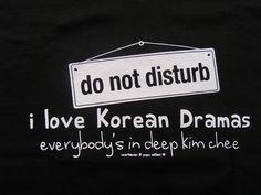 I love Korean Dramas ladies vneck tshirt by idkwhat2wear on Etsy, via Etsy.